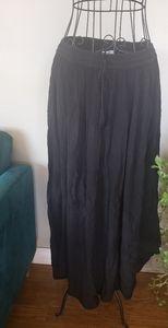 Papa Vancouver flowy pleated maxi black skirt